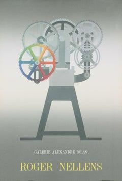"Roger Nellens-Galerie Alexandre Iolas-34.5"" x 23.5""-Lithograph-Modernism-Gray"