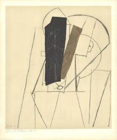 """Pablo Picasso-Papiers Colles-25.25"""" x 19""""-Lithograph-1966-Cubism"""