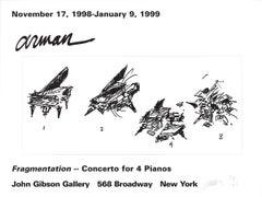 """Pierre Fernandez Arman-Fragmentation-18"""" x 24""""-Offset Lithograph-1999"""