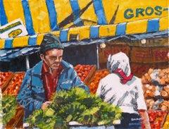 "Dwight Baird-The Salad Man-8.5"" x 11""-Watercolor-1989-Outsider Art-Market"