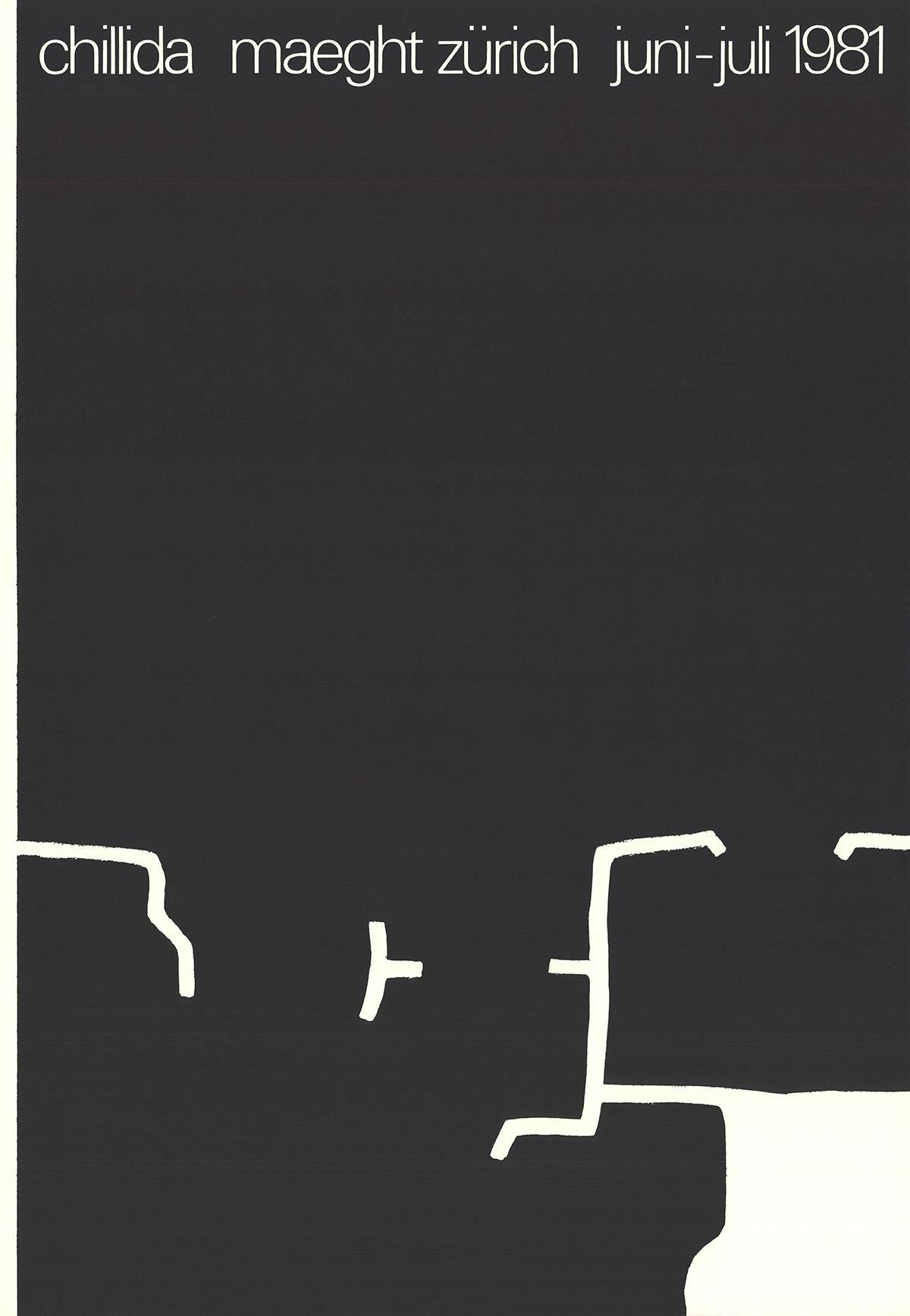 """Eduardo Chillida-Galerie Maeght-29.75/"""" x 19.5/""""-Lithograph-1980-Abstract-Brown"""