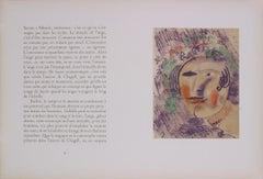 "Marc Chagall-Dans L'Atelier-17.25"" x 25.5""-Lithograph-1960-Modernism-White"
