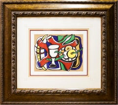 "Fernand Leger-Nature Morte Au Pomme-19.25"" x 22.5""-Poster-Modernism-Multicolor"