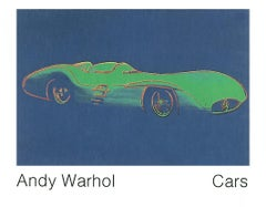 "Andy Warhol-Formula 1 Car W196 R (1954)-43"" x 55.25""-Poster-1989-Pop Art-Blue"