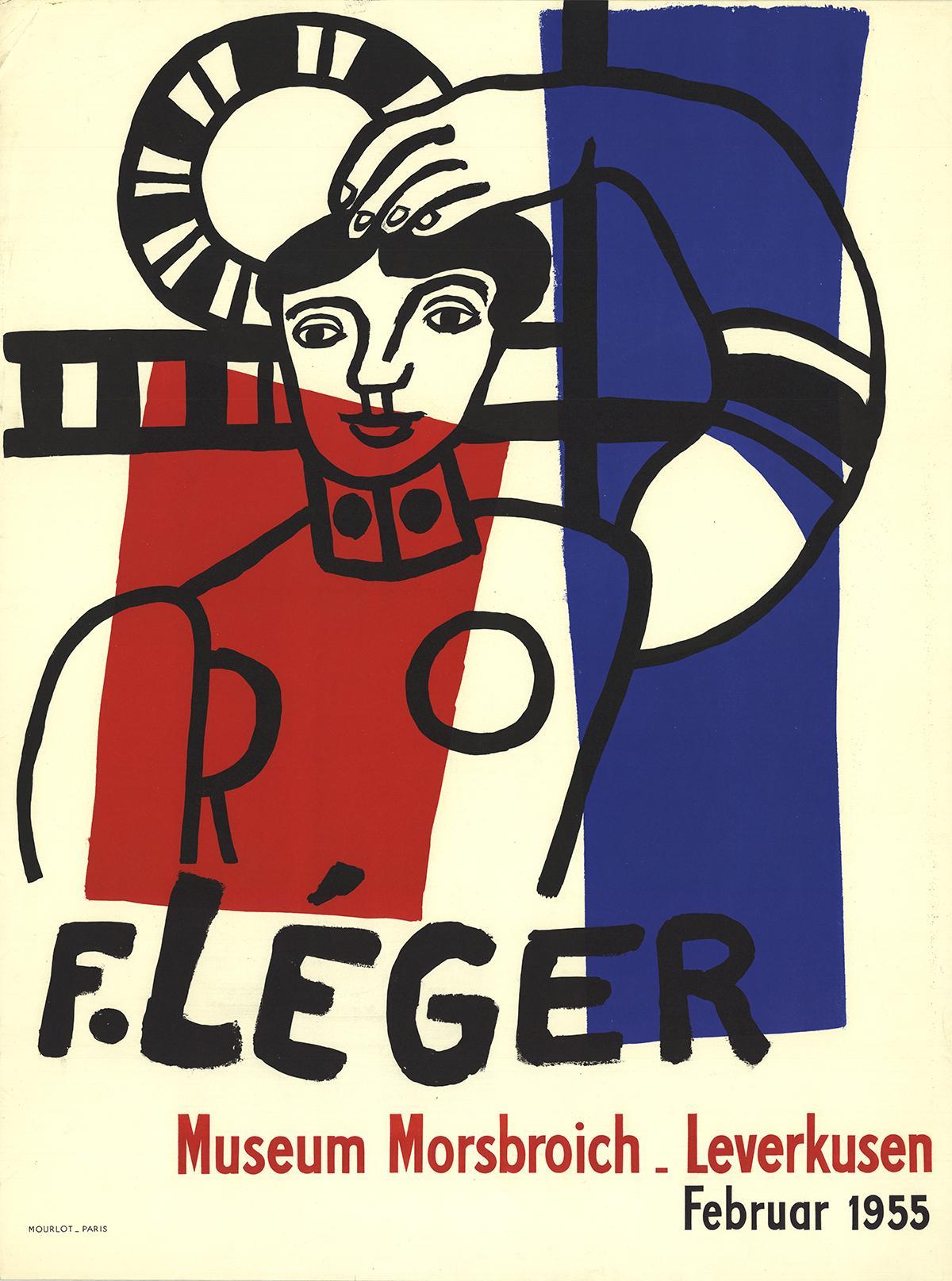 """After Fernand Leger-Museum Morsbroich-29.75"""" x 22.25""""-Lithograph-1955"""