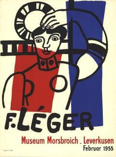 """Fernand Leger-Museum Morsbroich-29.75"""" x 22.25""""-Lithograph-1955-Modernism-White,"""