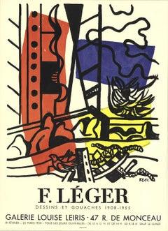 "Fernand Leger-Dessins et Gouaches-26"" x 19""-Lithograph-1958-Modernism-Black"