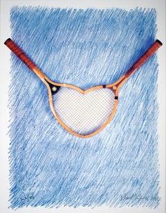 "Donald Lipski-Roland Garros French Open-30"" x 22.75""-Offset Lithograph-1995"