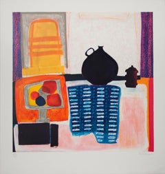 """Wendy Chazin-Sweet Home-31.5"""" x 29.5""""-Lithograph-Contemporary-Multicolor"""