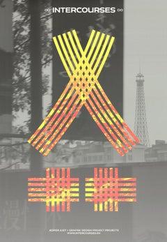 "Jesper Just-Intercourses (Yellow)-39.5"" x 27.25""-Poster-2013-Yellow, Orange"