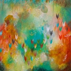 Fervently, Painting, Acrylic on Wood Panel