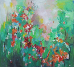 Summer flowers, Painting, Acrylic on Canvas