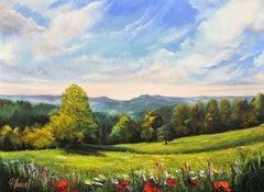 Hillside, Painting, Oil on Canvas