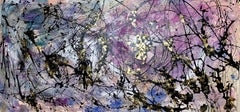 Star Dust, Mixed Media on Canvas
