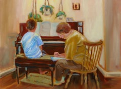 The Piano Lesson, Painting, Oil on Canvas