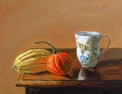 Autumn Garden( FRAMED), Painting, Oil on Canvas