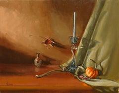 Little Pumpkin(FRAMED), Painting, Oil on Canvas