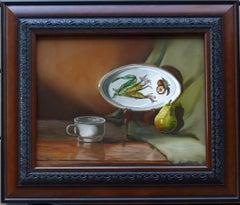 Harvest Platter  (FRAMED), Painting, Oil on Canvas