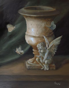 The Angel's Absolution  (FRAMED), Painting, Oil on Canvas