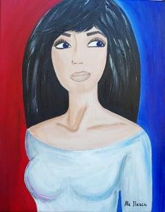 Curious, Painting, Acrylic on Canvas