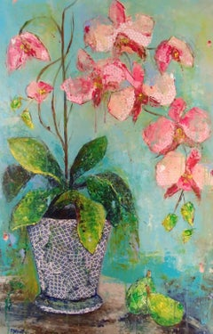 Phalaenopsis, Mixed Media on Canvas