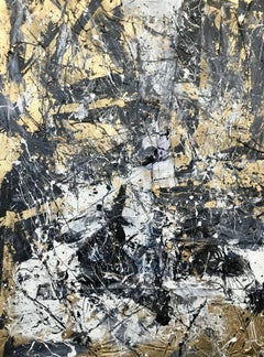 Golden Storm 0101, Mixed Media on Canvas
