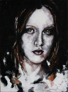 Yana (PORTRAIT SERIES #5), Painting, Acrylic on Canvas