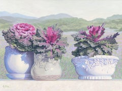 Ornamental Cabbages, Painting, Oil on Canvas