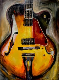 Gibson L5 Guitar, Painting, Oil on Canvas