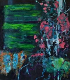 Tending my Garden, Painting, Oil on Paper