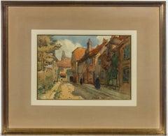 Sidney Dennant Moss RBA (1885-1946) - 1928 Watercolour, Quiet Street Scene