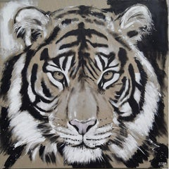 BIG CAT - TIGER, Painting, Acrylic on Canvas