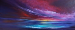 Incandescence, Panoramic Seascape, Painting, Acrylic on Canvas
