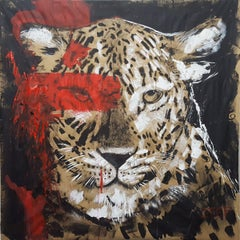 Leopard - Big Cat #2 - Series One of the big five, Painting, Acrylic on Paper