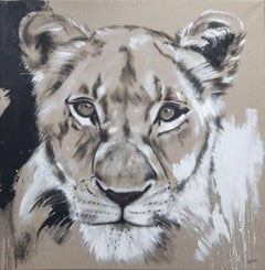 BIG CAT - LIONESS #4 - SERIES ONE OF THE BIG FIVE, Painting, Acrylic on Canvas