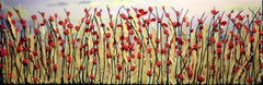 Red Poppies, Mixed Media on Canvas
