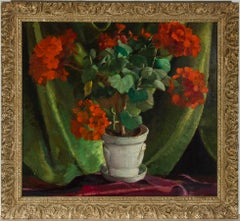 Colin Cairness Clinton Campbell (1894-1970) - Framed Oil, The Red Geraniums
