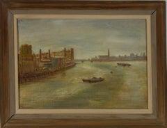 Margot Russell (1913-1988) - Framed 1977 Oil, Fulham Power Station