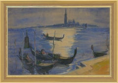 Olaf Havelock Barnett (1911-1979) - Framed 1969 Watercolour, Giudecca Canal