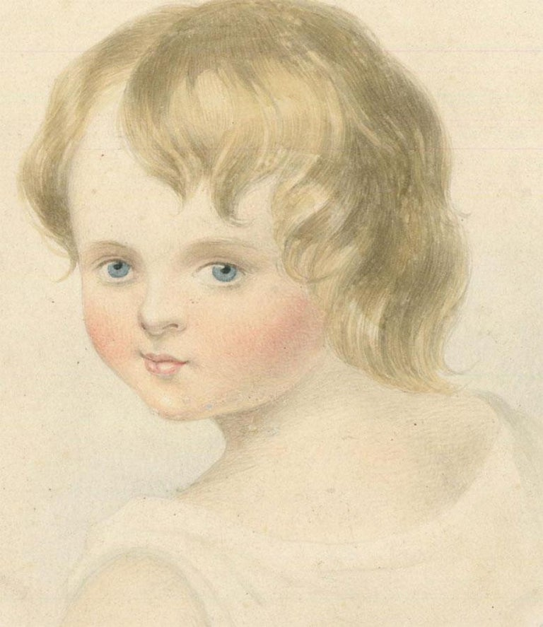 W. R Buckley - Mid 19th Century Watercolour, Portrait of a Young Child - Art by W. R Buckley