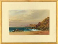 John Shapland (1865-1929) - Signed Gouache, Cornish Coastal Landscape