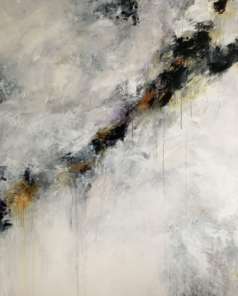 Darlene Watson Abstract Painting - Winter's Coming, Painting, Acrylic on Canvas