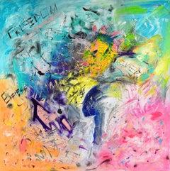 Freedom, Painting, Acrylic on Canvas