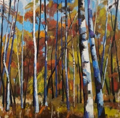 Birch Forest XII, Painting, Oil on Canvas