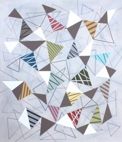 Triangles 8, Painting, Acrylic on Canvas