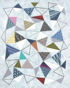 Triangles 7, Painting, Acrylic on Canvas