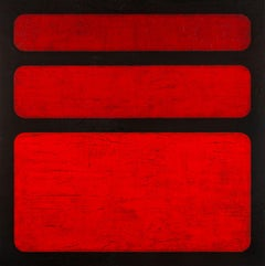Simply Red, Painting, Acrylic on Wood Panel
