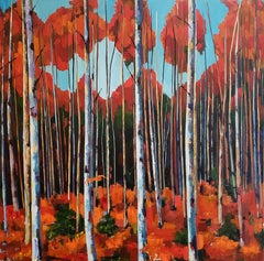 Large Birch Forest, Painting, Oil on Canvas