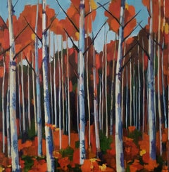 Small Birch Forest, Painting, Oil on Canvas
