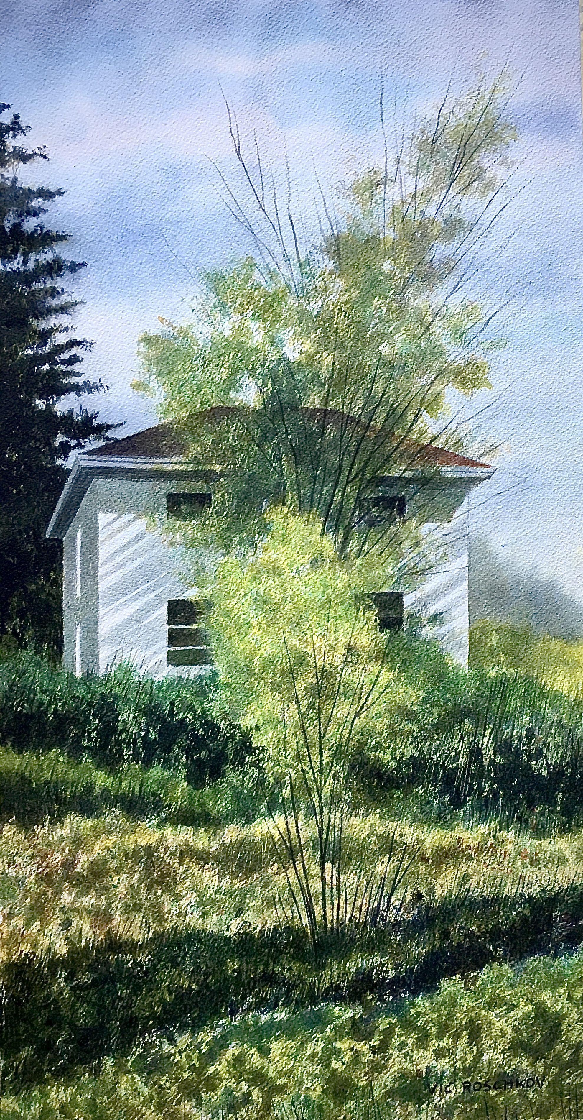 Mid Summer Hideaway, Painting, Watercolor on Watercolor Paper